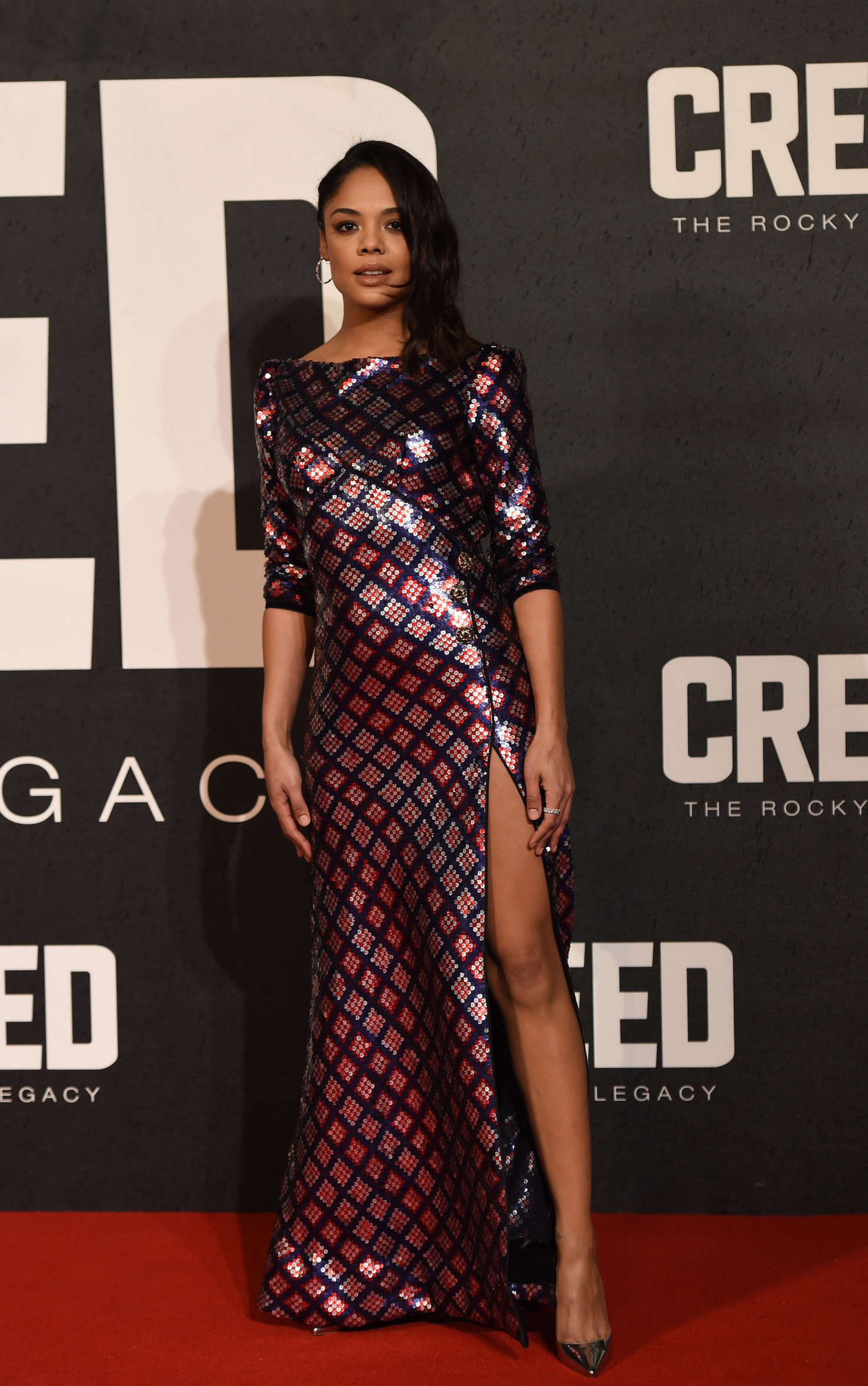 Tessa Thompson Creed Premiere in London