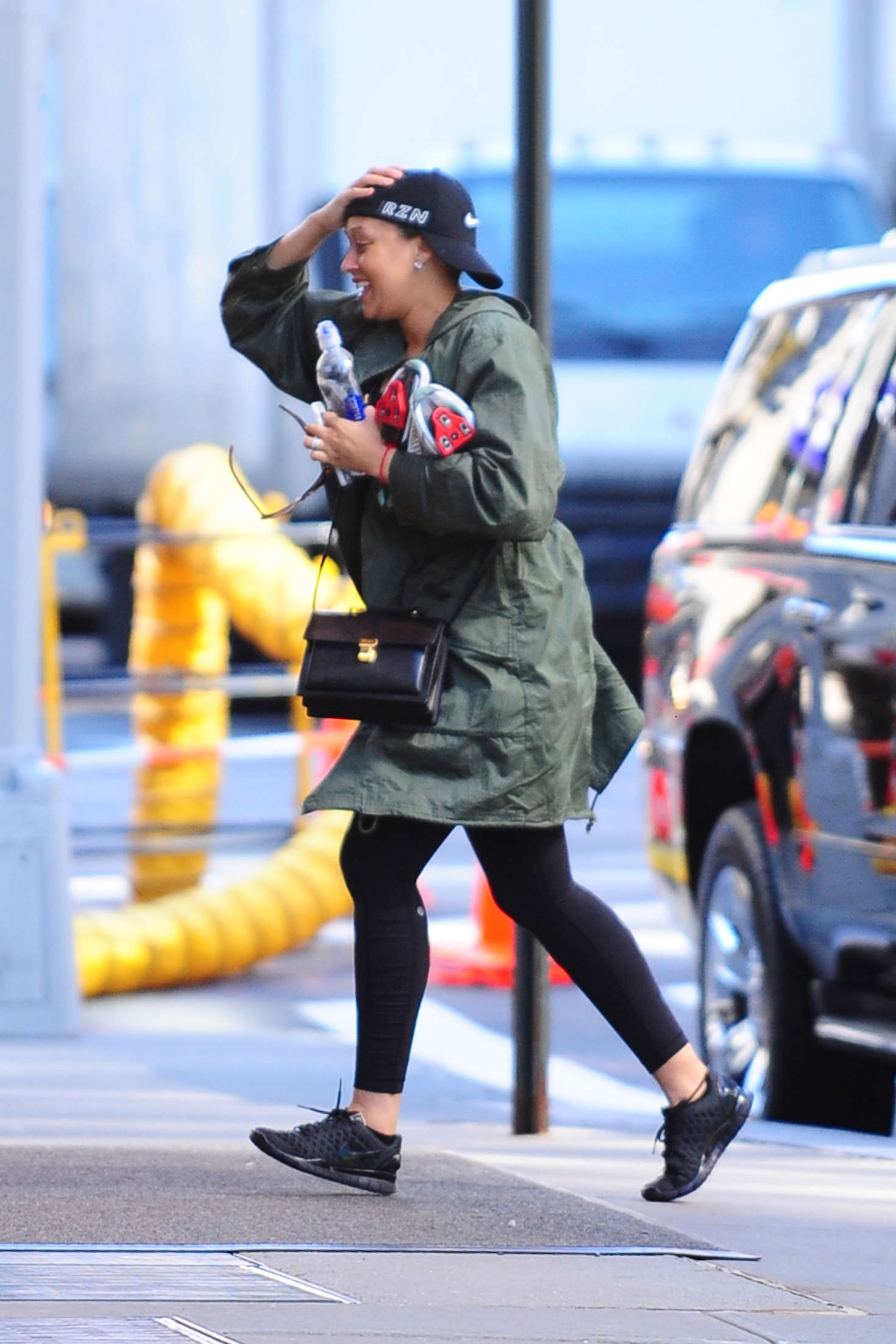 Tia Mowry Arrives for her workout in New York