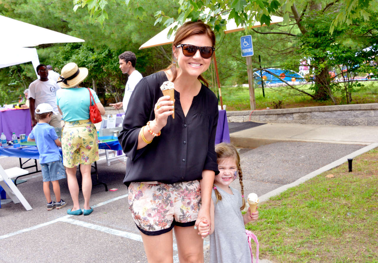 Tiffani Thiessen at CMEE Family Fair in Bridgehampton