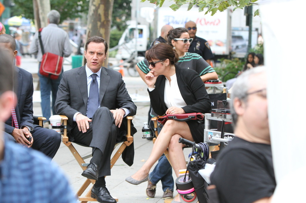 Tiffani Thiessen White Collar Set in New York