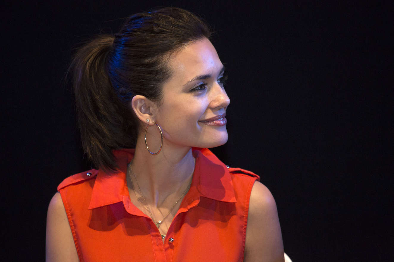 Torrey DeVitto at Bloodycon panel