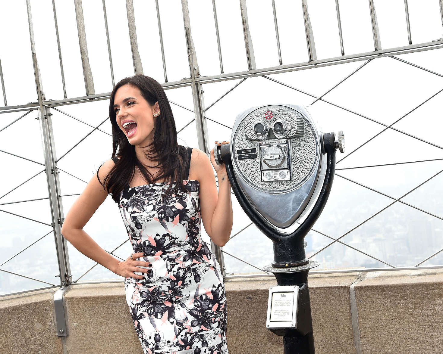 Torrey Devitto Visiting The Empire State Building in New York