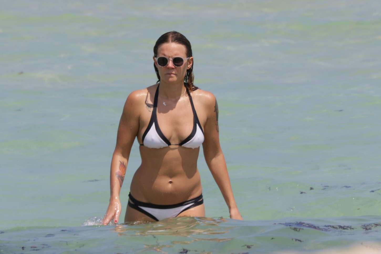 Tove Lo Wearing Bikini at the beach in Miami
