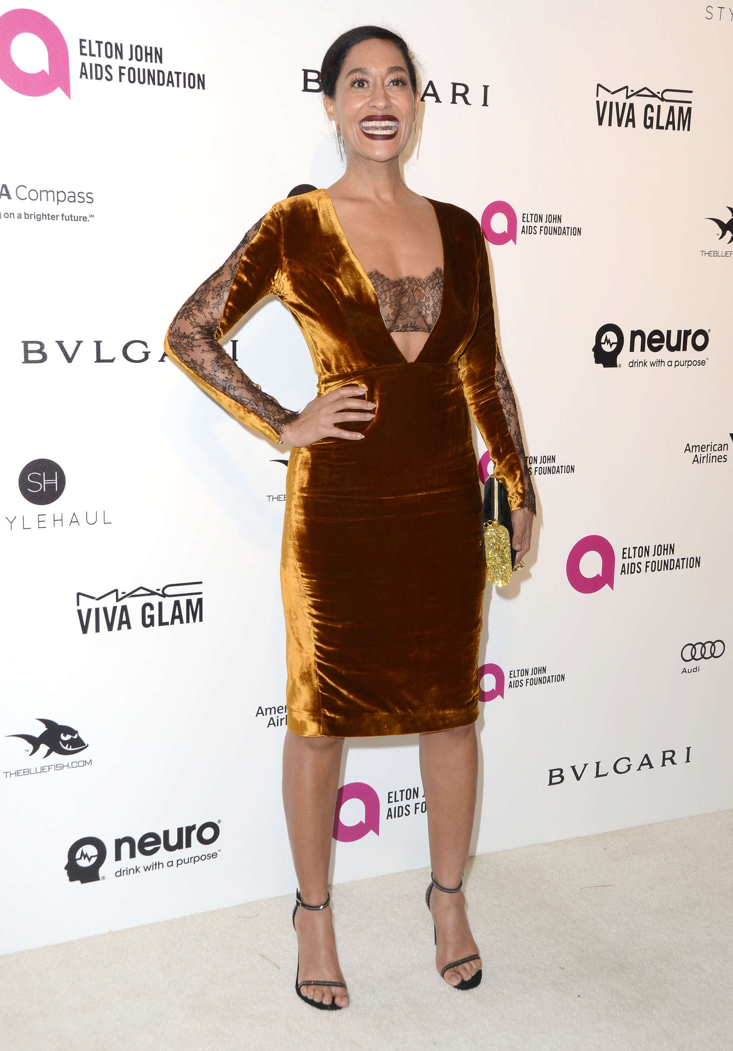 Tracee Ellis Ross Elton John AIDS Foundations Oscar Viewing Party in West Hollywood