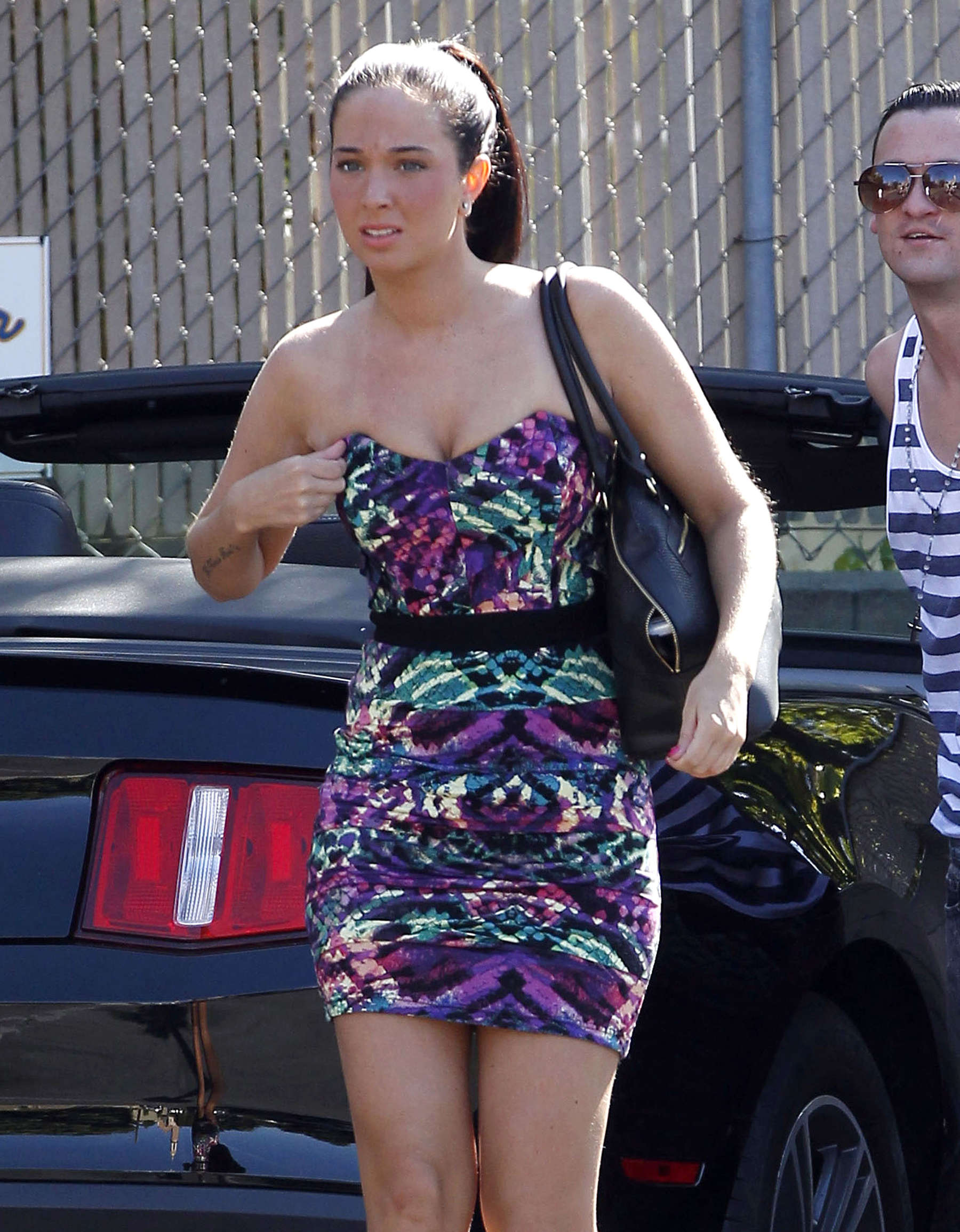 Tulisa Contostavlos Leggy in Short Dress in Los Angeles