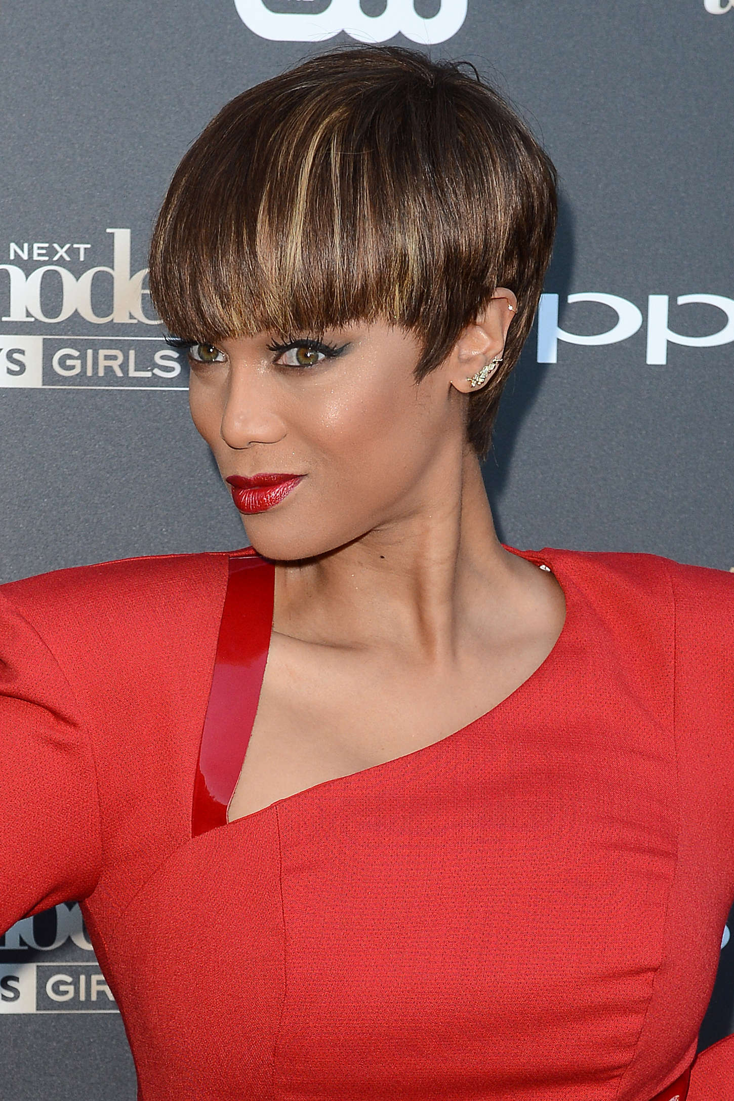 Tyra Banks Americas Next Top Model Cycle Premiere Party in West Hollywood