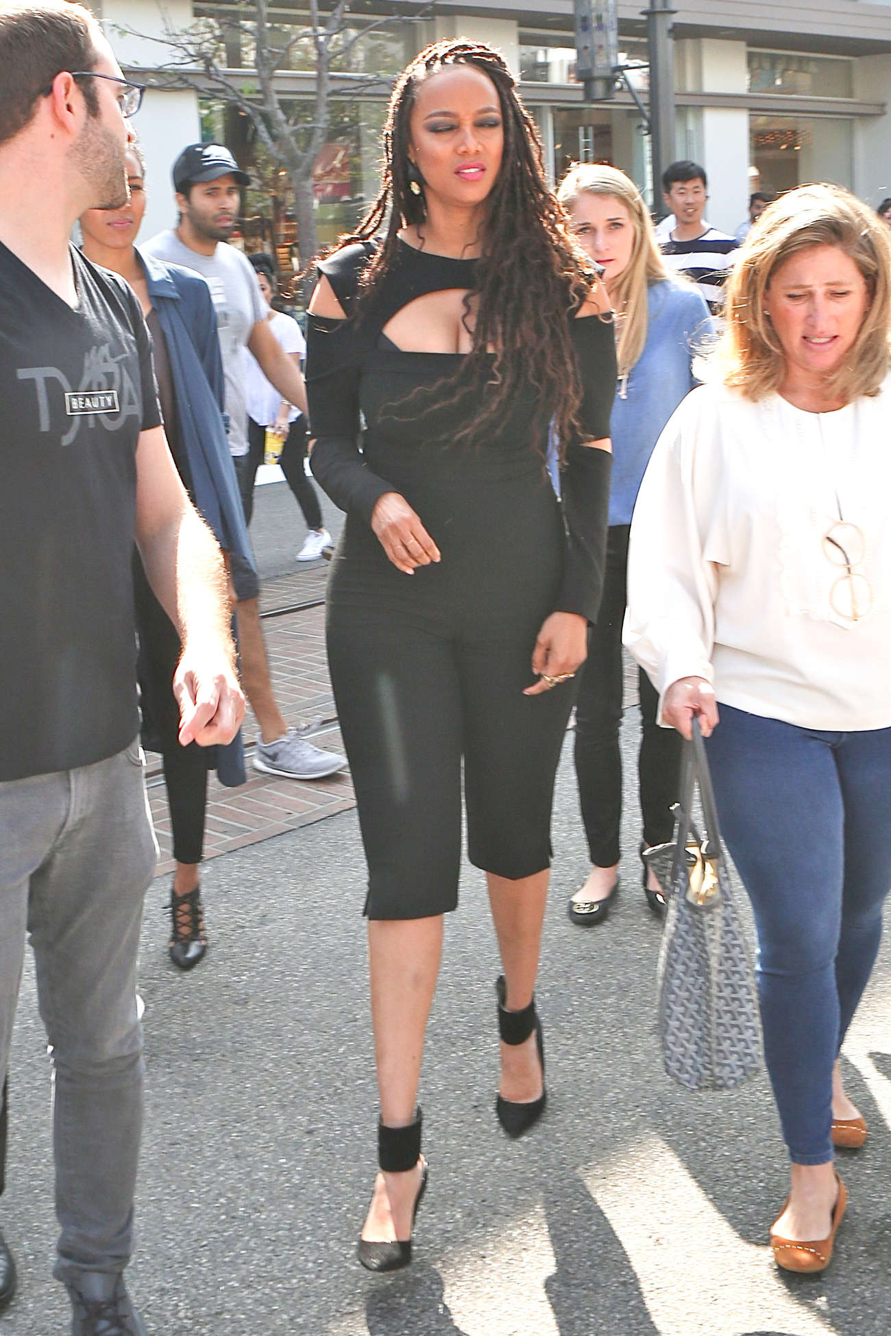 Tyra Banks in Tights out in Los Angeles