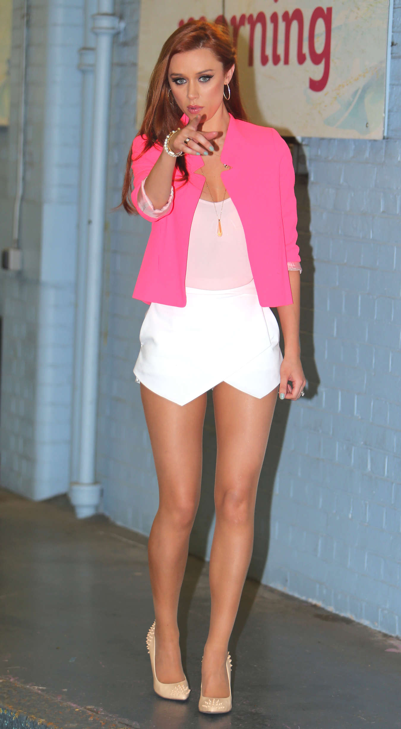 Una Healy at the London studios