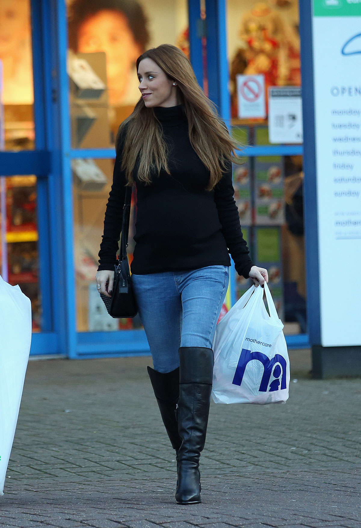 Una Healy Shopping Candids at Mothercare in London