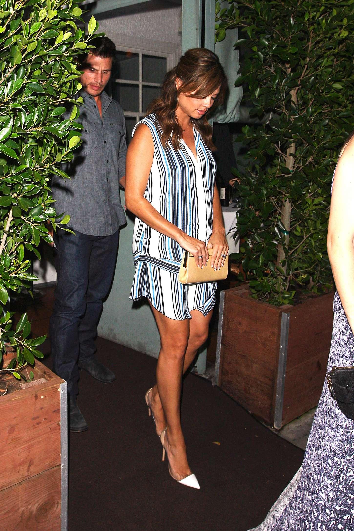 Vanessa Minnillo Leaving Giorgio Baldi Restaurant in Santa Monica