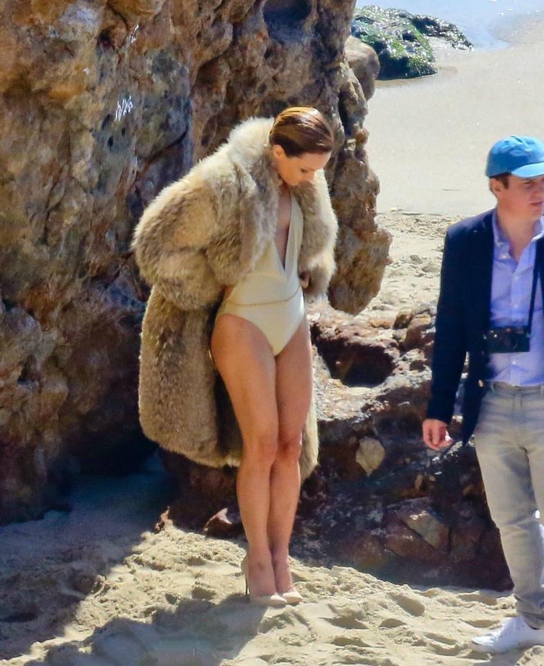 Vanessa Paradis Swimwear Photoshoot in Malibu