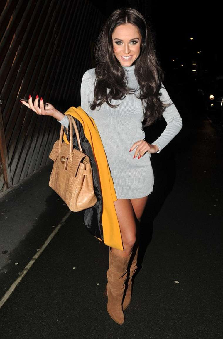 Vicky Pattison in Mini Dress Night Out in Manchester