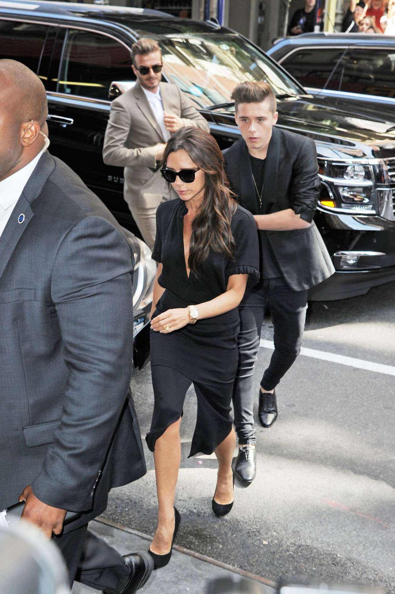 Victoria Beckham With Family Out in New York