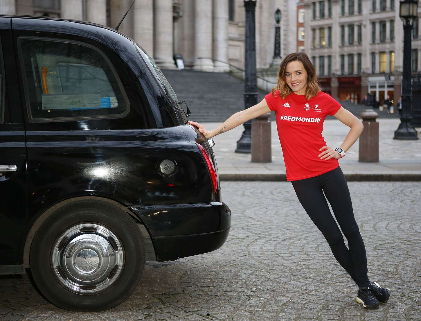 Victoria Pendleton Fitness First Red Monday Promo in London