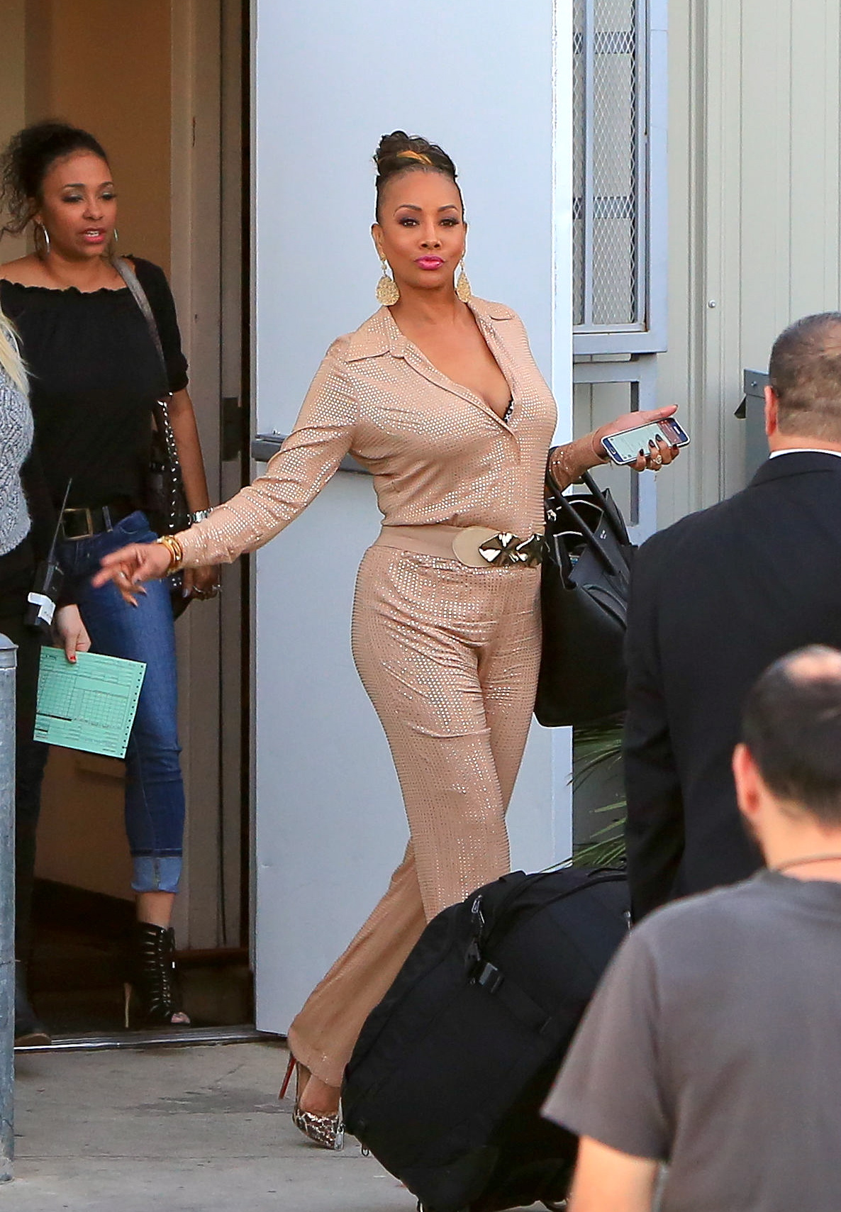 Vivica A. Fox Leaves the studio in Los Angeles