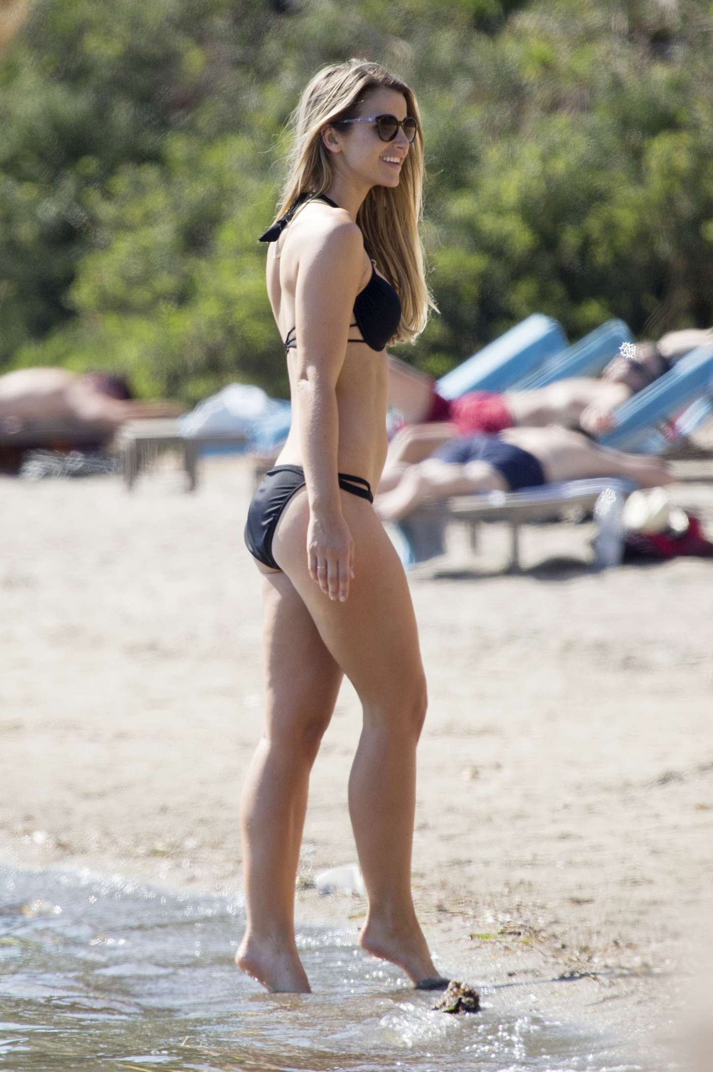 Vogue Williams Wearing Bikini on the beach in Ibiza