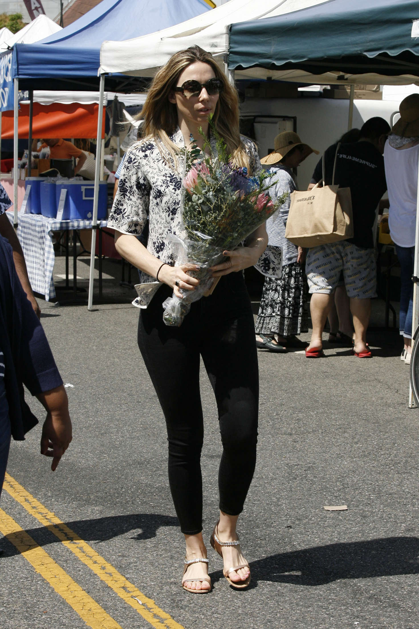 Whitney Cummings at Farmers Market in Studio City
