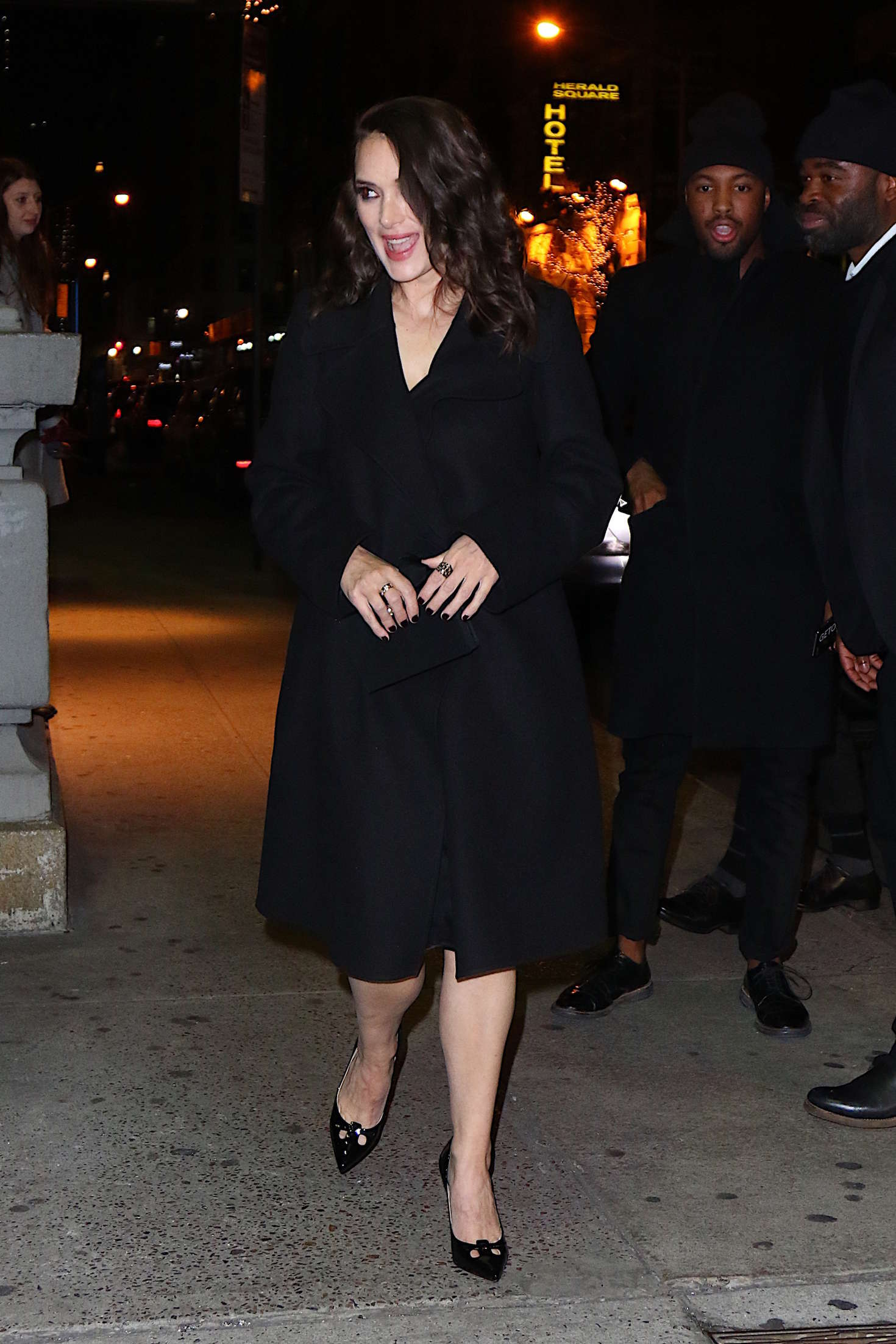 Winona Ryder out in New York