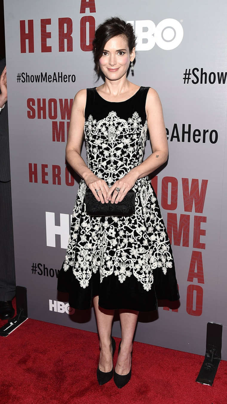 Winona Ryder Show Me A Hero Screening in New York