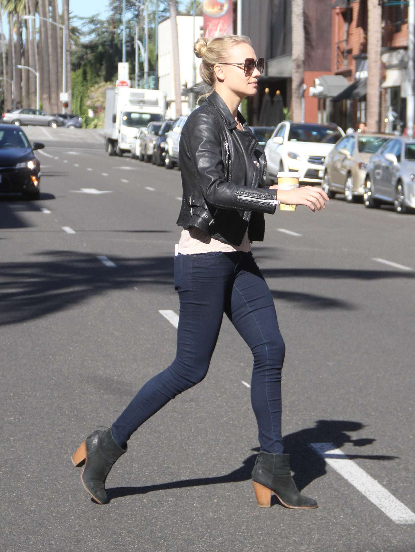 Yvonne Strahovski in Tight Jeans out in Beverly Hills