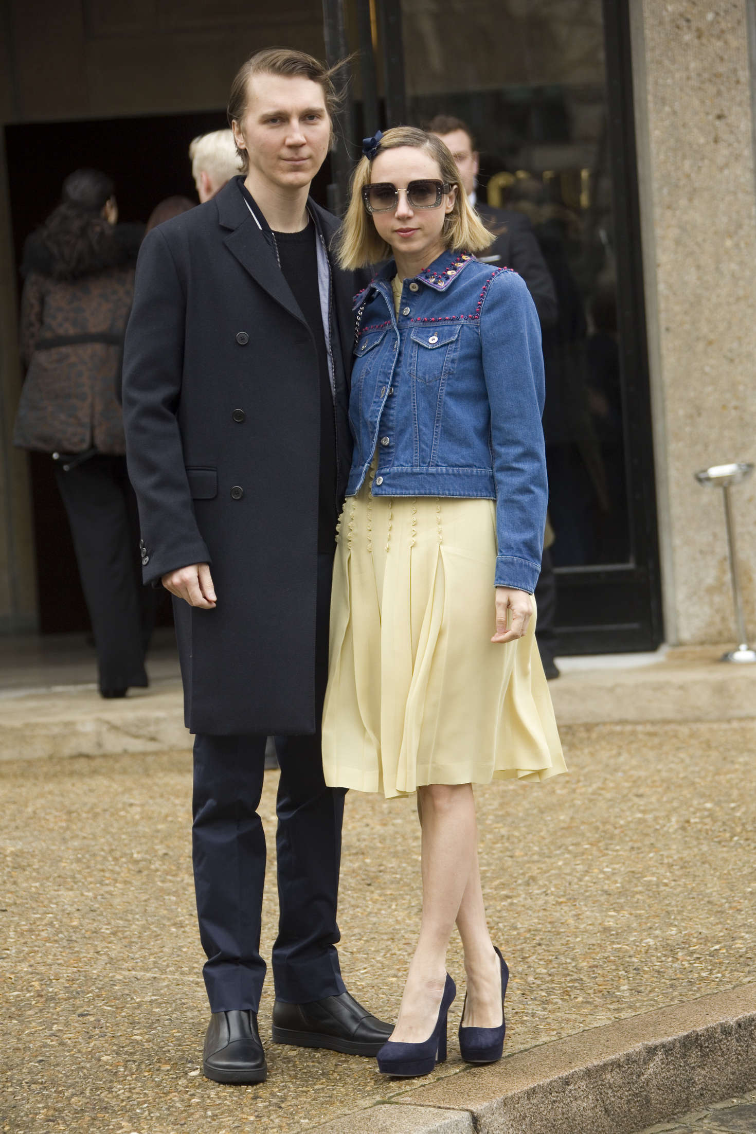 Zoe Kazan Arrives at Miu Miu Fashion Show in Paris