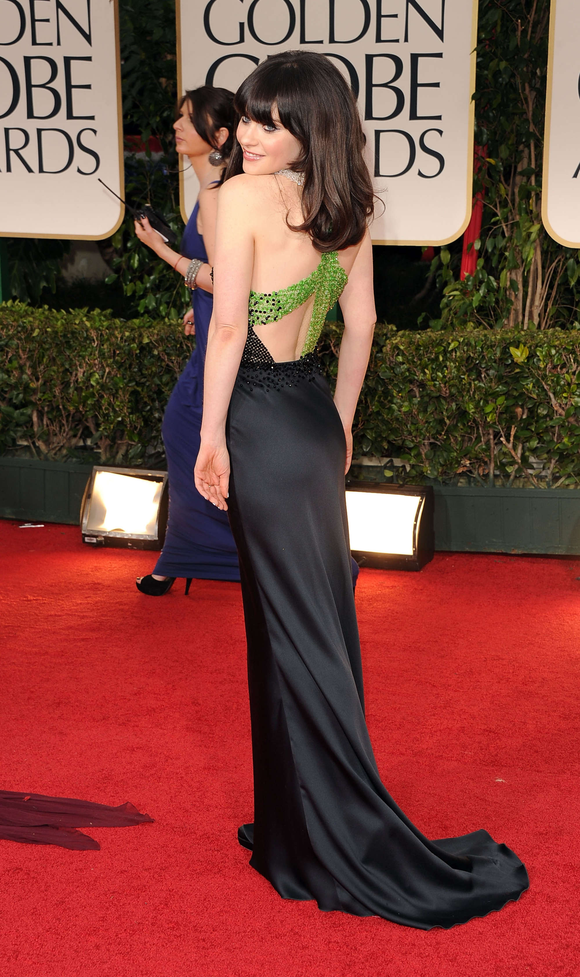 Zooey Deschanel at Golden Globe Awards in Los Angeles