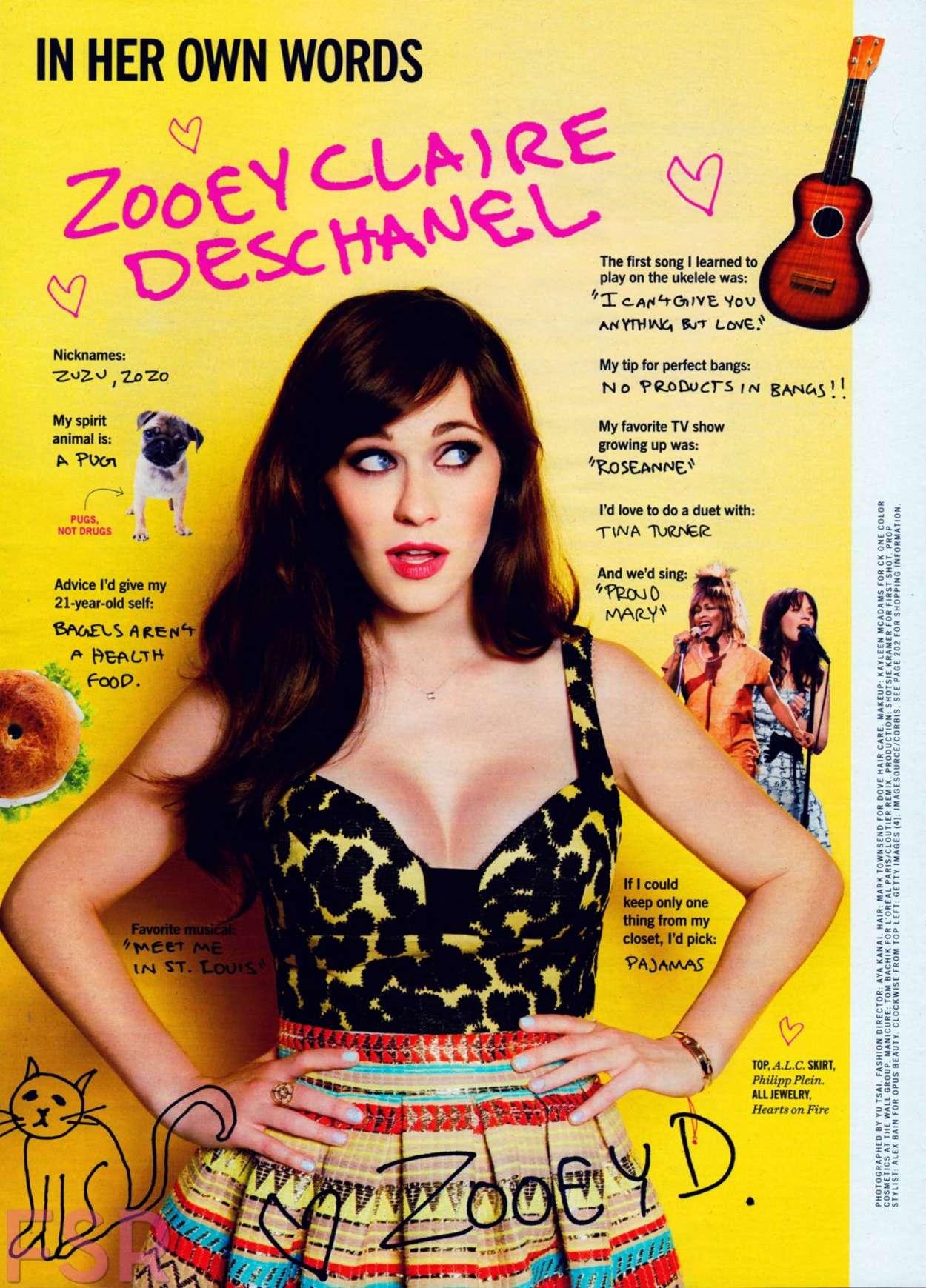Zooey Deschanel Cosmopolitan US Magazine